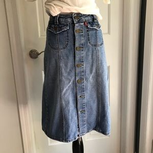 Levi's Skirts - 🇺🇸LEVI'S | BUTTON DOWN FRONT FLAP POCKET SKIRT